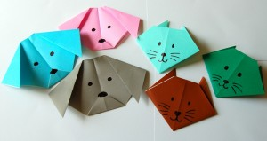 origami cat and dog group 300x159 Yokos Paper Cranes