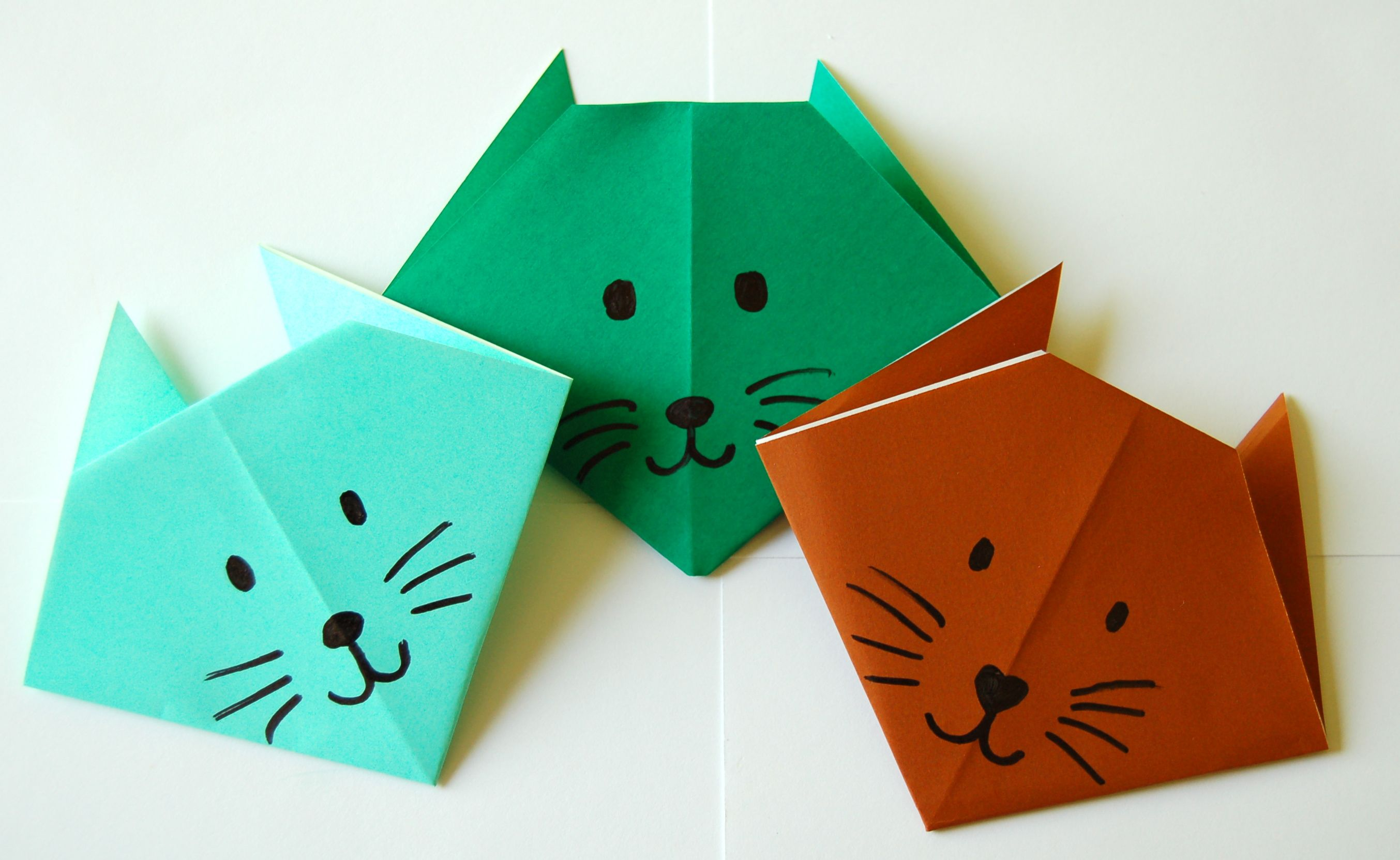 make an origami cat bookworm bear