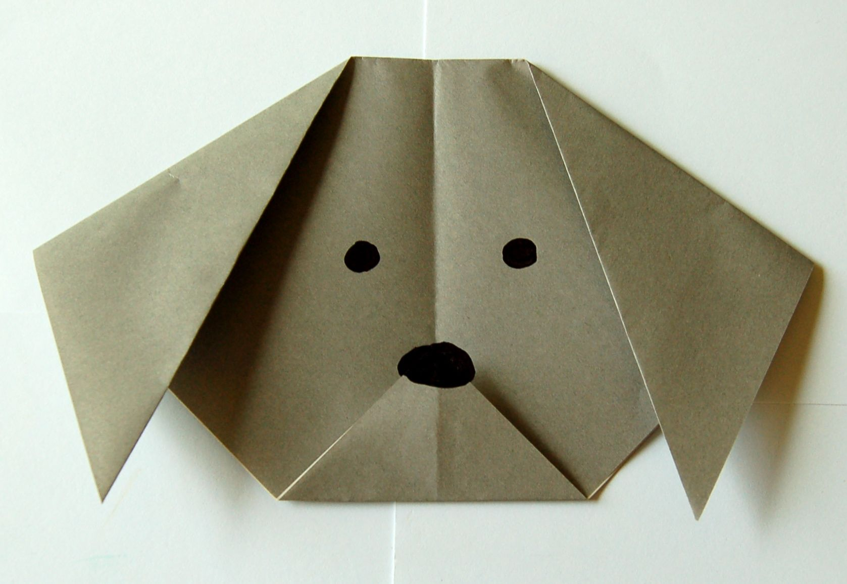 Origami dog face how to origami - Origami Dog 8 Add Face Details