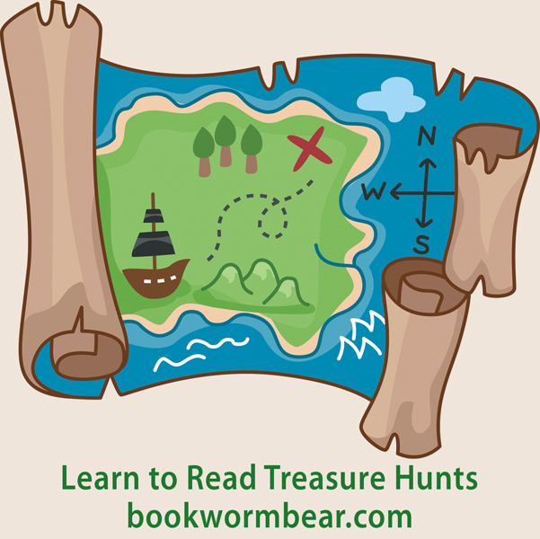 Ad site button reading treasure hunts